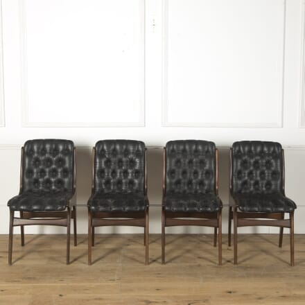 Set of 20th Century Italian Leather Dining Chairs CD2810516