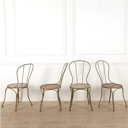 Set Of Four French 19th Century Iron Garden Chairs GA4410858