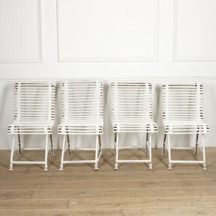 Set of Four French Iron Garden Chairs from Arras GA4417610