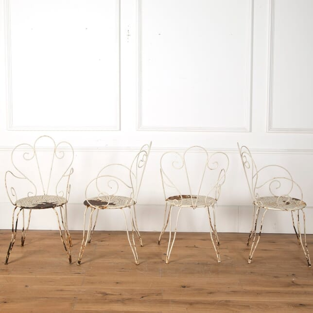 Set of 4 French Iron Garden Chairs GA7110772