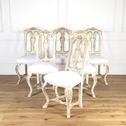 Set of Six 19th Century Italian Dining Chairs CD8114391