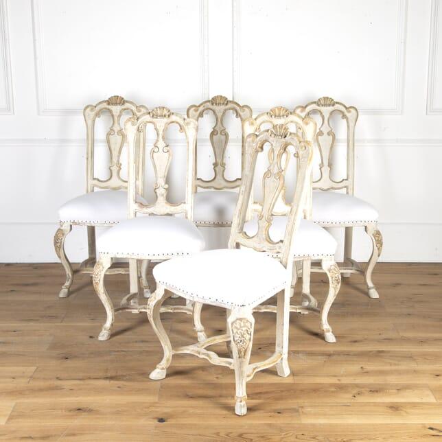 Set of Six 19th Century Italian Dining Chairs CD8114391