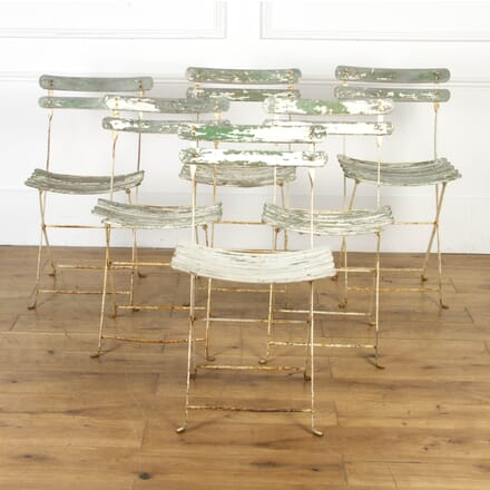 Set of Six French Folding Garden Chairs GA7117695