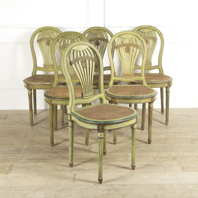 Set of 6 Green Dining Chairs CD1310009