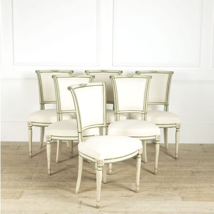 Set of 6 Painted Directoire Chairs CD1310010