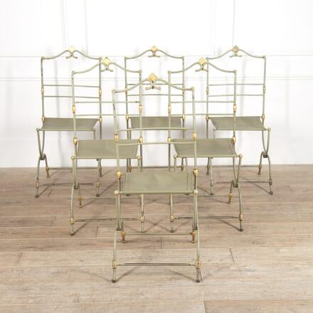 Set of Six Parisian Ladurée Cafe Chairs CH4115179