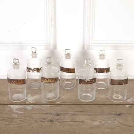 Set of Seven 20th Century Glass Apothecary Jars DA8113954