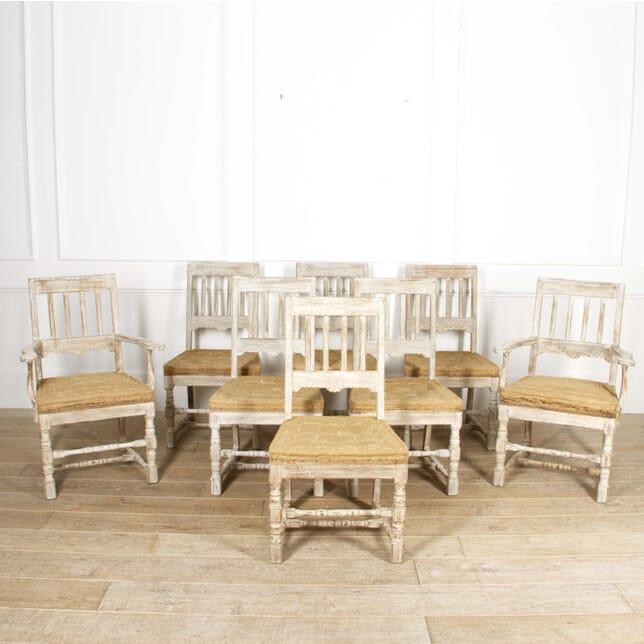 Set of Eight Swedish Oak Dining Chairs CD4417217