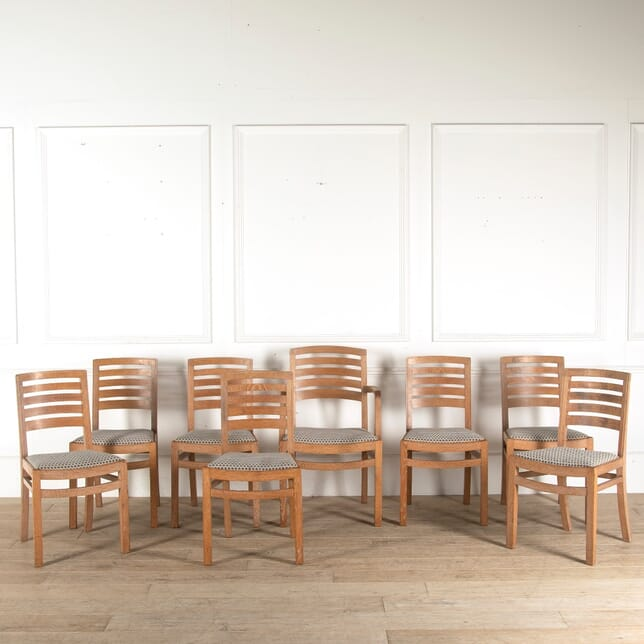 Set of 8 Heals Limed Oak Dining Chairs CD0510656