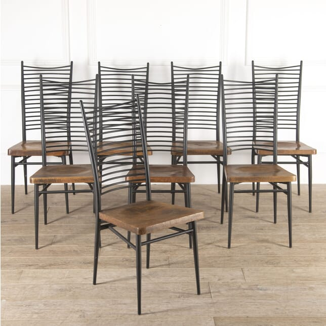 Set of Eight Italian Mid Century Chairs CD4114491