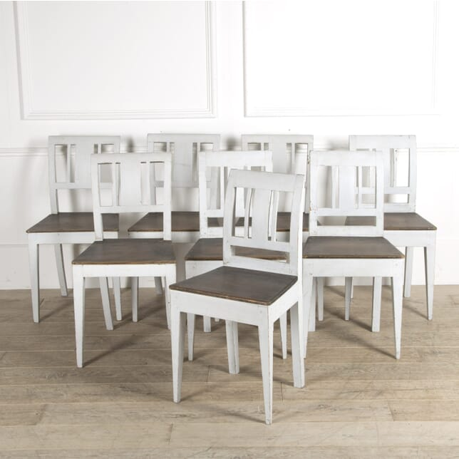 Set of Eight Swedish Dining Chairs CD999489