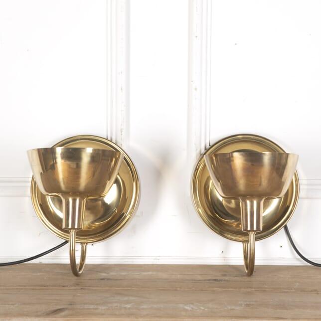 Pair Of Brass Swedish Up Lights LW5358116