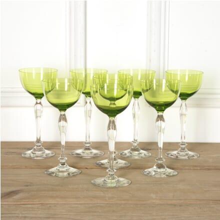 Set of Chartreuse Green Val Saint Lambert Wine Glasses DA5810538