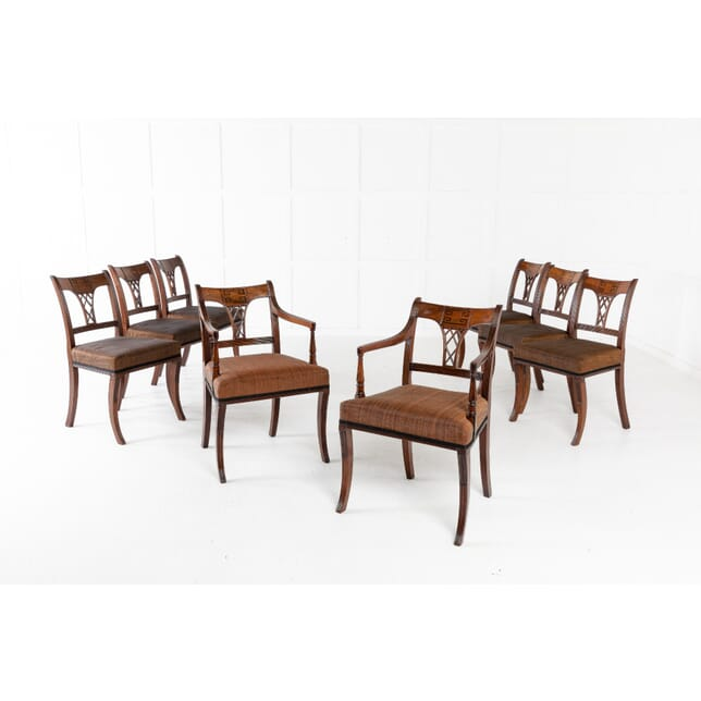Set of Eight 19th Century Regency Mahogany Dining Chairs CD0611422