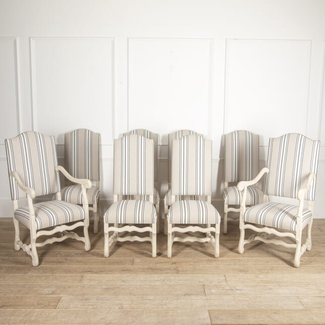 Set of Eight French Upholstered Dining Chairs CH1715150