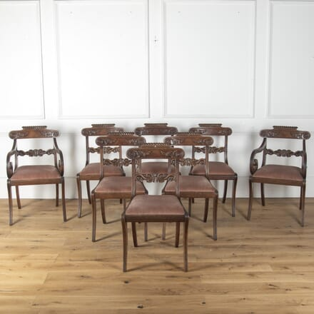 Set of Eight Regency Mahogany Dining Chairs CD4759678
