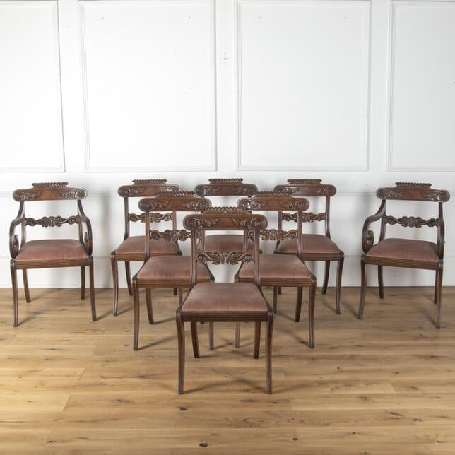 Set of Eight Regency Mahogany Dining Chairs CD4759678