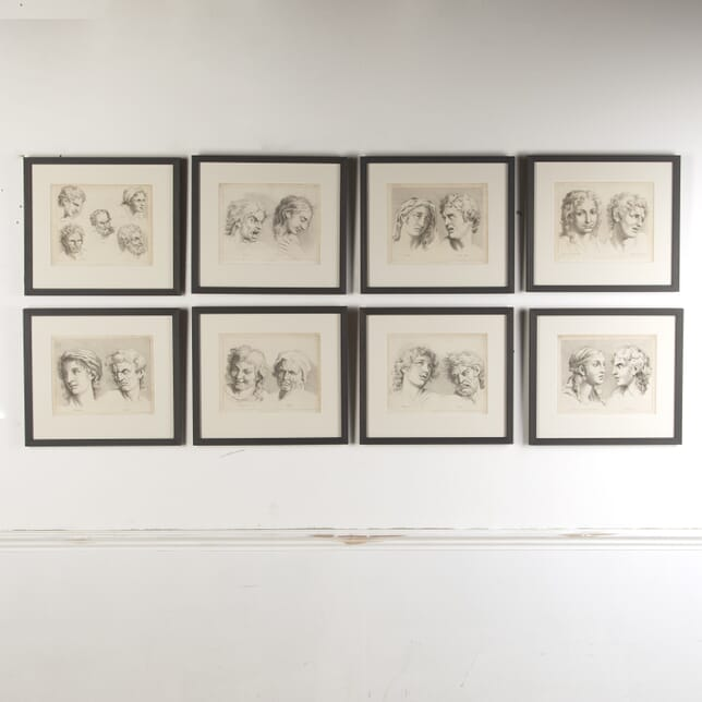 Set of Eight Engravings of Facial Expressions from Ackermann's 'Cabinet of Arts' WD8015119