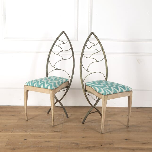 Set of Eight Metal and Wood Chairs CH7913469