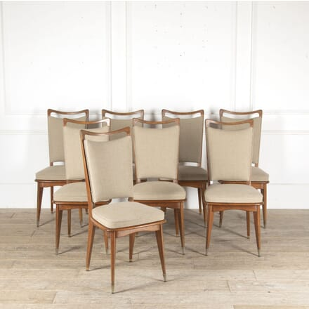Set of Eight Mid Century Dining Chairs CD4812926