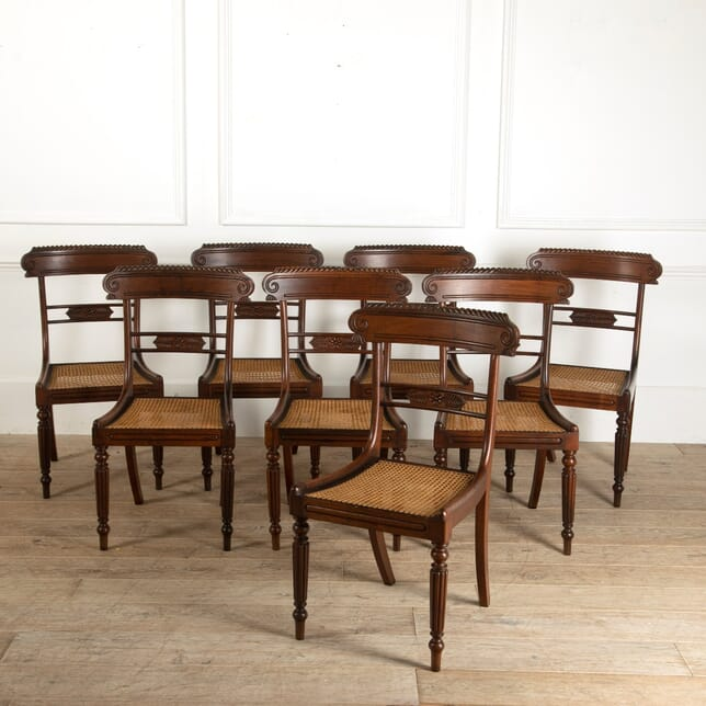 Set of Eight Regency Rosewood Dining Chairs CD4511598