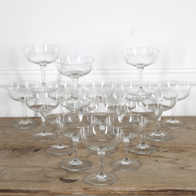 Set of 18 Vintage Champagne Coupes DA1515235
