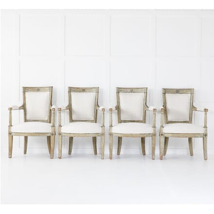 Set of Four French Late 18th Century Painted Armchairs CH0610373