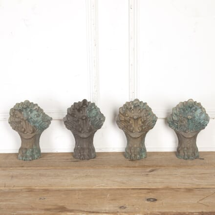 Set of Four Brass Hairy Paw Architectural Elements GA8016666