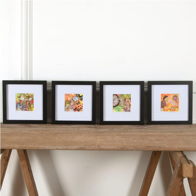 Set of Four Media Collages WD3011033