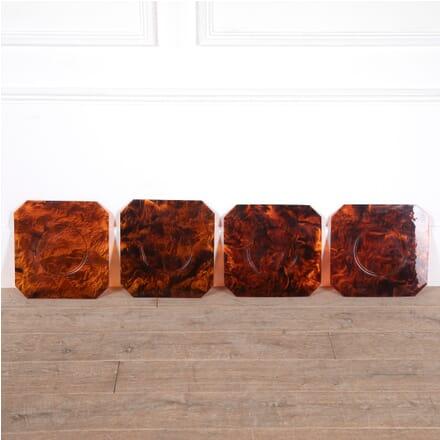 Set of Four Octagonal Faux Tortoiseshell Lucite Plates DA2911284
