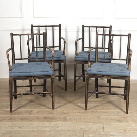 Set of Four Regency Ebonised Armchairs CH2815567