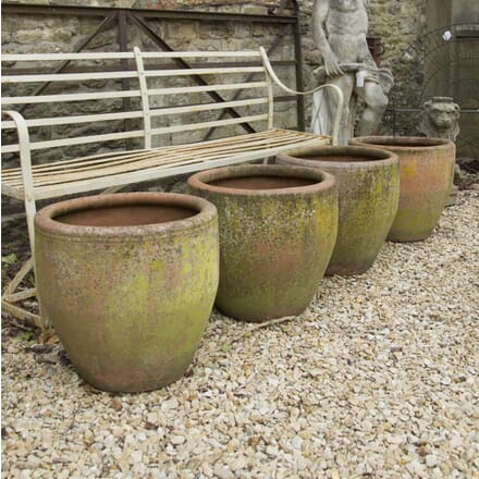 Set of Four Terracotta Planters GA429813