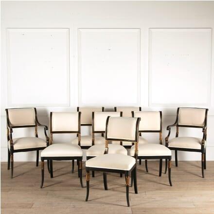 Set of Hollywood Regency Ebonised Dining Chairs CD4510689
