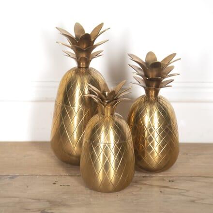 Set of Brass Pineapple Ice Buckets DA3016009