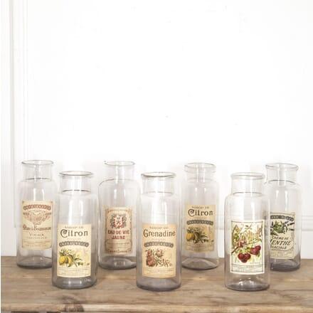 Set of Seven French Glass Distillery Jars DA1515243