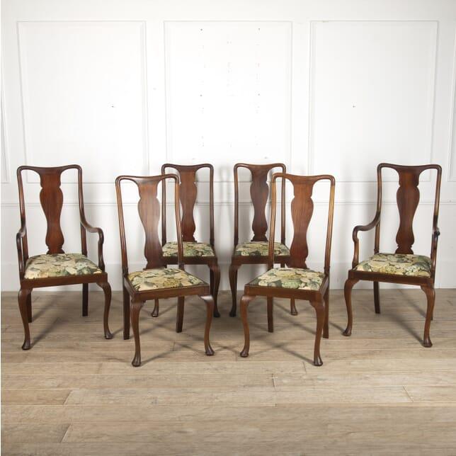 Set of Six English 19th Century Mahogany Dining Chairs CD8815680