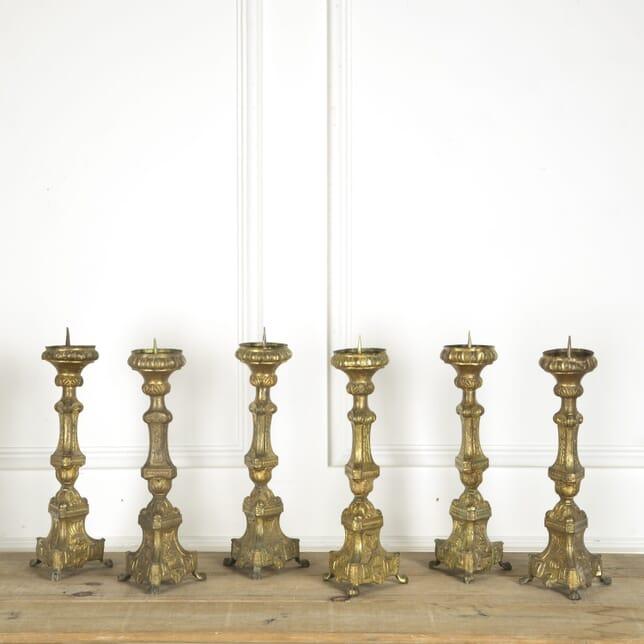Set of Six Early 19th Century Pricket Sticks DA159344