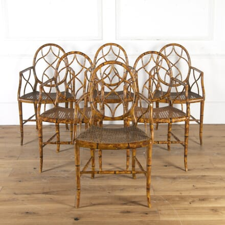 Set of Six Faux Bamboo Armchairs CH2715550