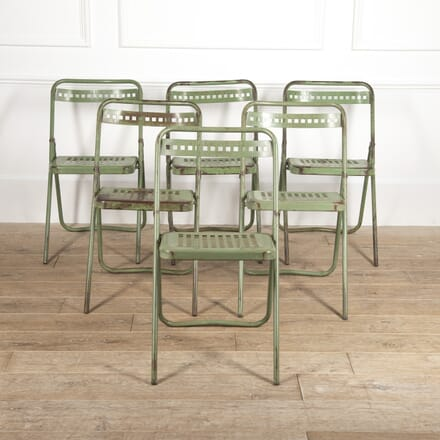 Set of Six French Folding Chairs GA1516542