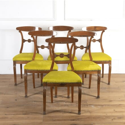 Set of Six French 19th Century Mahogany Dining Chairs CD8914303