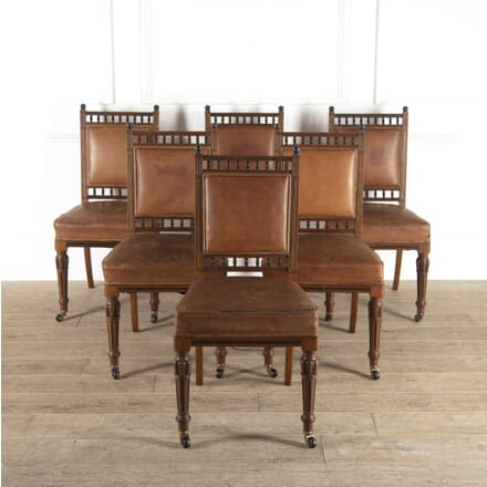 Set of Six Holland & Sons Walnut Chairs CD7814465