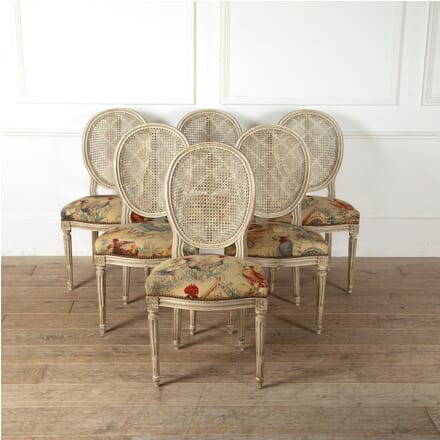 Set of Six Louis XVI Revival Dining Chairs CD1511551