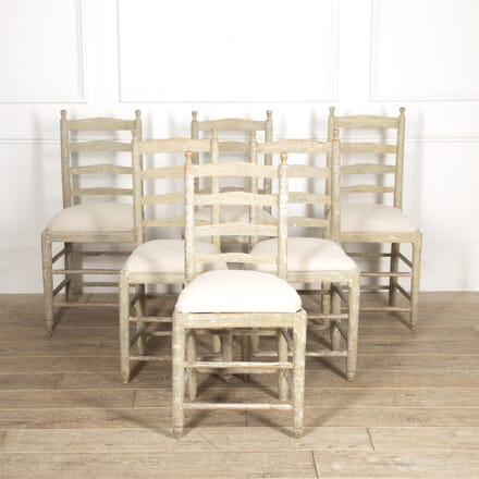 Set of Six 19th Century Swedish Gripsholm Chairs CD0214746