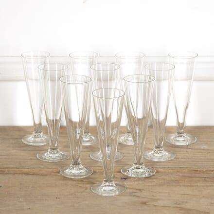 Set of 10 French Champagne Flutes DA1515233