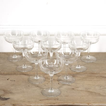 Set of 10 Crystal Champagne Coupes DA1515241