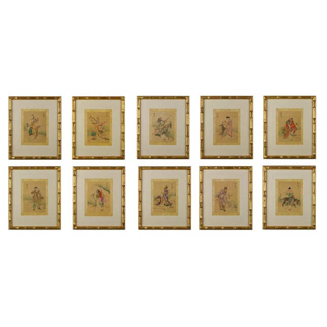 Set of Ten Watercolours of the Chinese Immortal WD6014660