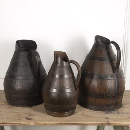 Set of Three Burgundy Wine Jugs DA1515404