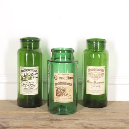 Set of Three Green Glass Distillery Jars DA1515242