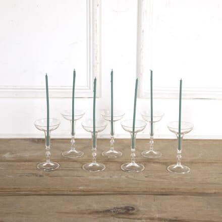 Set of Seven 1970s Crystal Candleholders DA5816532