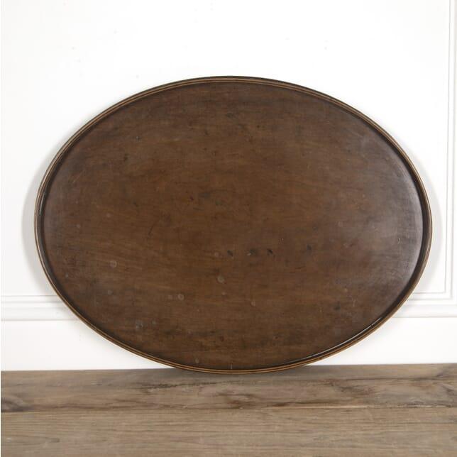 Sheraton Period Mahogany Oval Tray DA0514984